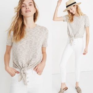 Madewell Knot Front Sweater Tee XS